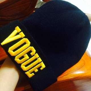 VOUGE 細針織毛帽 黑色