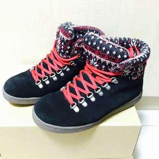 挪威品牌Skono高筒鞋 黑紅/休閒/潮流