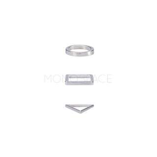 Minimalist Stackable Rings Set of Three