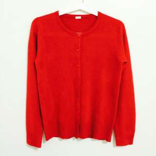 紅色針織外套❤️