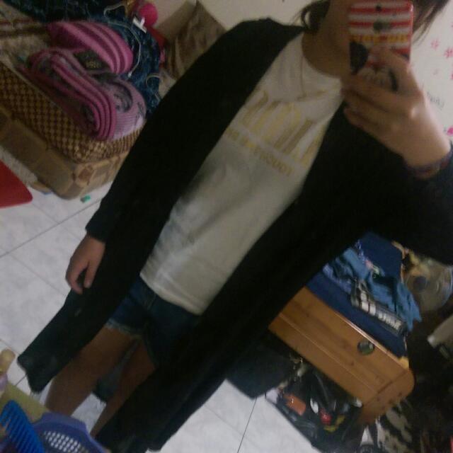前短厚長雪紡紗外套