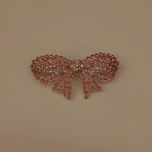 粉紅鑽髮夾