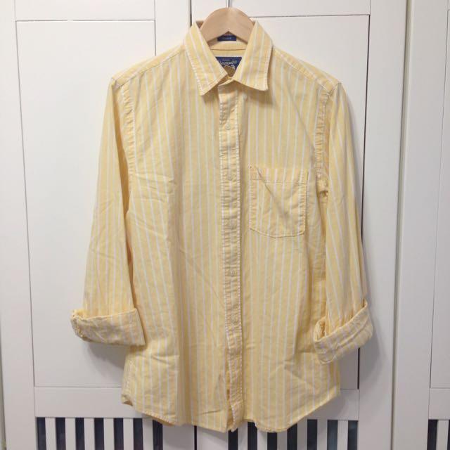 二手 Abercrombie & Fitch 條紋牛津襯衫