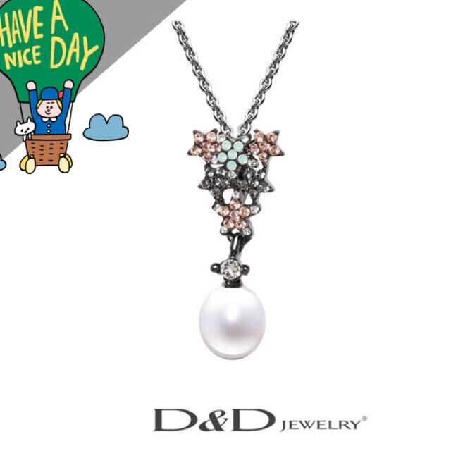 D&D Jewelry 天然珍珠項鍊-秘密花園