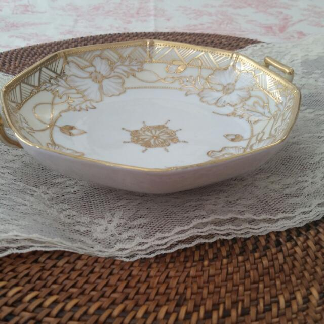 Handpainted Nippon Candy Dish