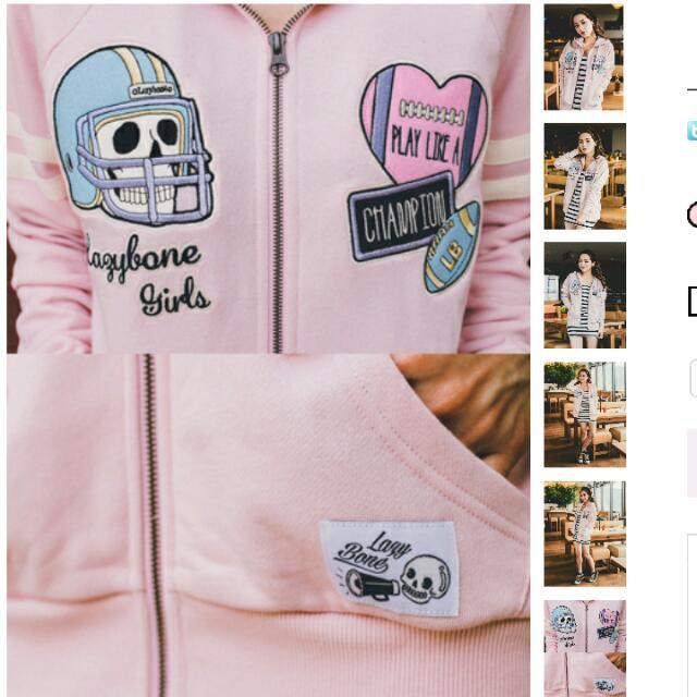 Lazybone 粉色外套