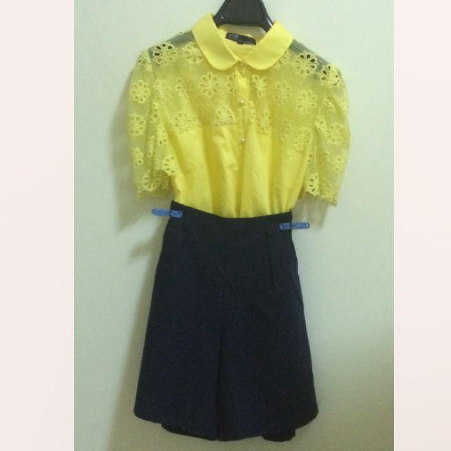 大降價歐 Pazzo 黃色襯衫