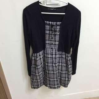 (任2件500)betty's 假兩件長袖洋裝