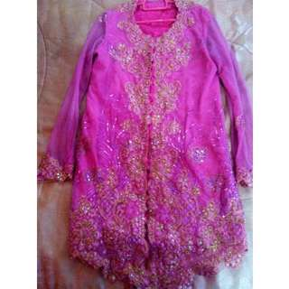 Fully Sequined Pink Kebaya
