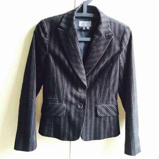 G2000西裝外套/黑/條紋