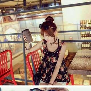 韓版花朵娃娃裝