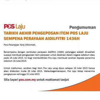 POS LAJU NOTES