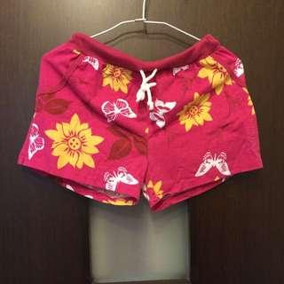 桃紅花棉褲