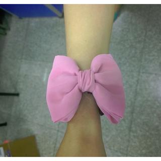 粉紅蝴蝶結造型髮夾(鯊魚夾)