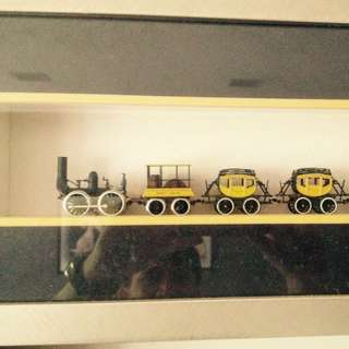VERY RARE ELECTRIC TRAIN IN A FRAME