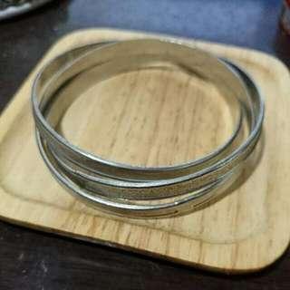 手練 - 銀色三圈不可拆手環