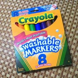 Crayola可水洗彩色筆 8色