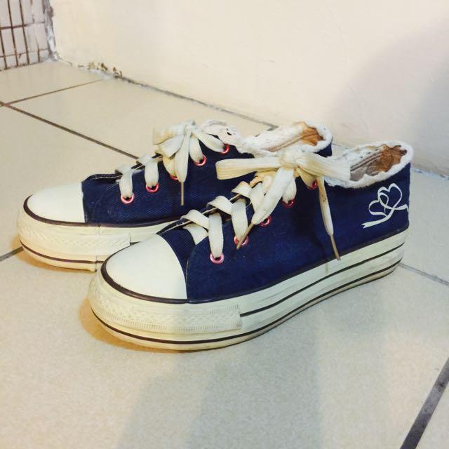牛仔帆布鞋25cm
