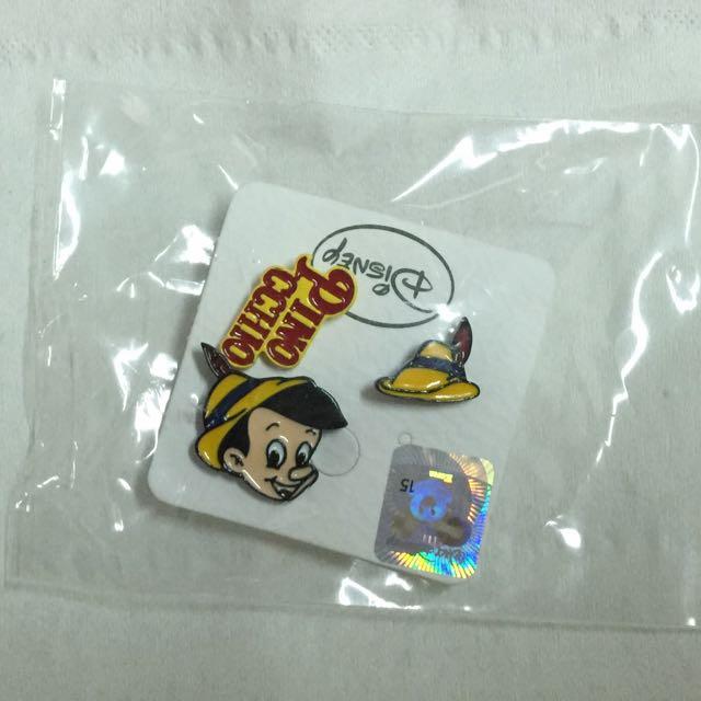 全新❗️降價❗️迪士尼-小木偶鋼針耳環3個👯😍