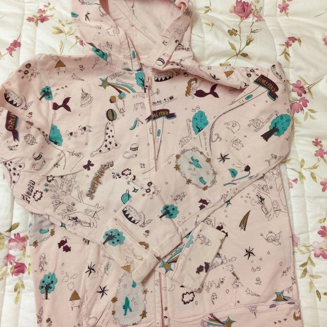 童趣塗鴉粉色外套