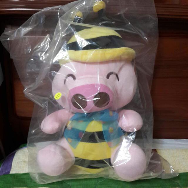 ⬇降價+含運⬇ 粉紅豬 蜜蜂裝 豬造型 大玩偶