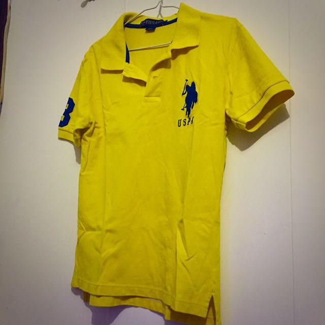U.S. POLO ASSN (USPA)黃色POLO衫 S號