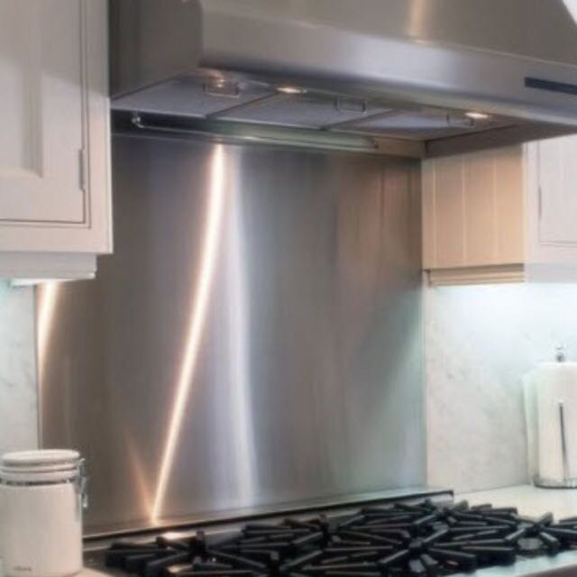 Stainless steel backsplash sheet for kitchen home for Stainless steel sheets for kitchens