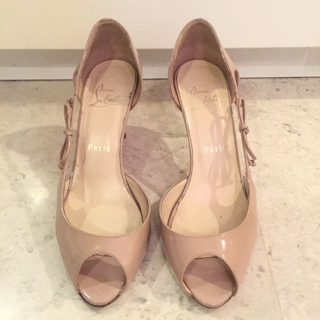 new style fc28f 13305 Used Christian Louboutin Nude Heels Size 36 3inch, Luxury on ...