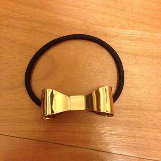 歐美 金屬蝴蝶結髮飾髮圈手環