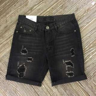極致黑破壞牛仔短褲