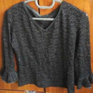 Black Lace Body Tight Preloved