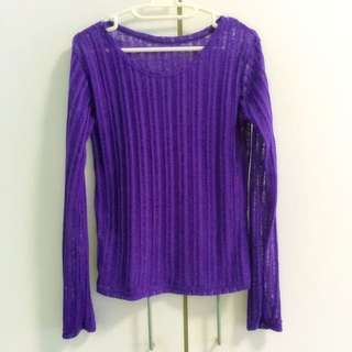 Purple knitted Pull-over top