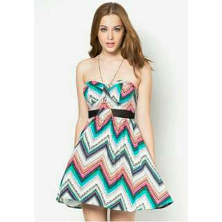 Molded Cup Illusion Skater Dress