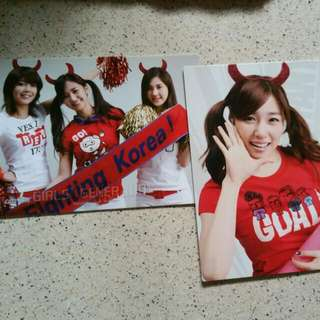 2 Snsd World Cup Edition Cards