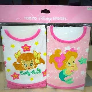 (全新)東京Disney Resort•Baby Ariel愛莉兒嬰兒領巾/圍兜兜