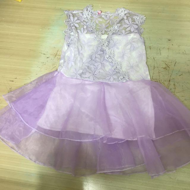 薰衣紫蕾絲歐根紗上衣