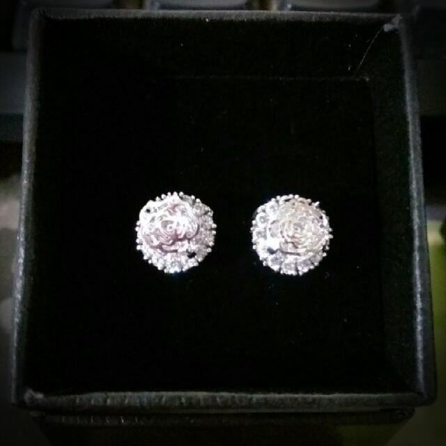(降)玫瑰鑽耳環