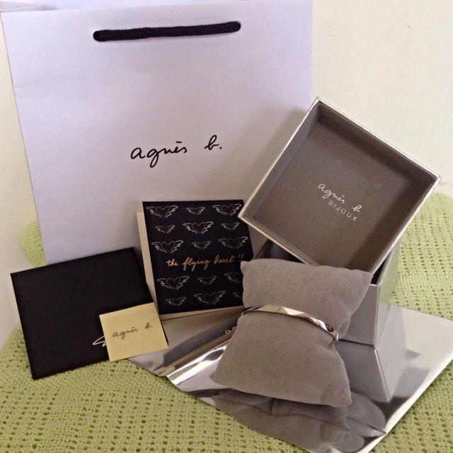 Agnes b.(小b)銀色手環女版