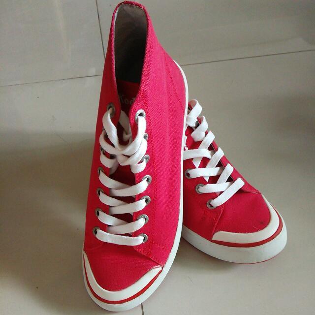 Ked 紅色高筒鞋 全新