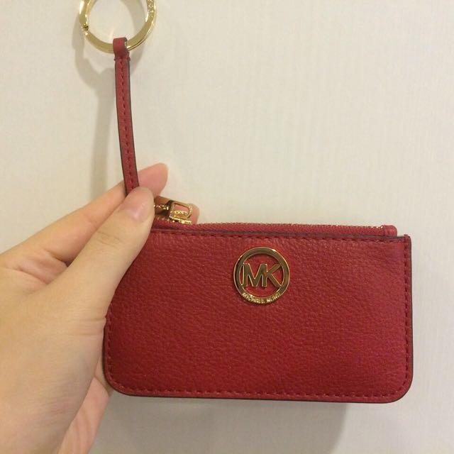 Michael Kors 羊皮 零錢包 鑰匙包