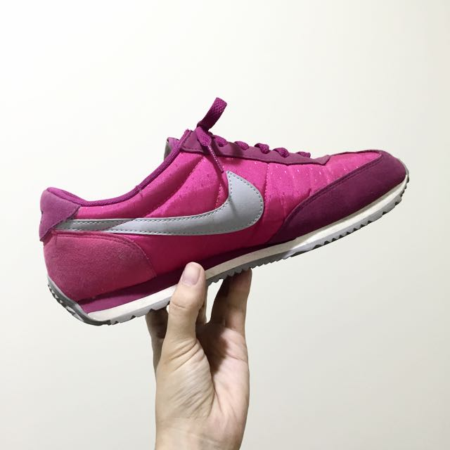 Nike 復古桃紅 阿甘鞋 慢跑鞋 灰勾 正品