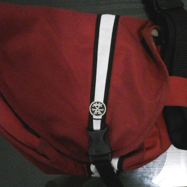 Vermillion Red Krumpler Bag