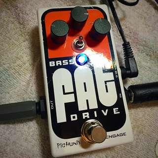 Pigtronix Bass Fat Drive 貝斯破音效果器
