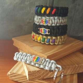 Love Wins Charm Paracord Bracelets