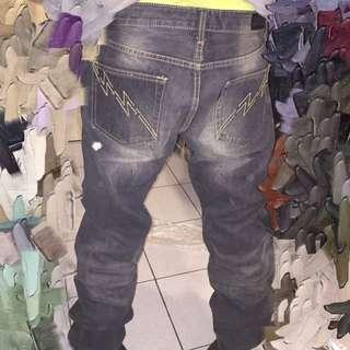 (男) 柯有倫代言挺版潑墨牛仔褲·正品·