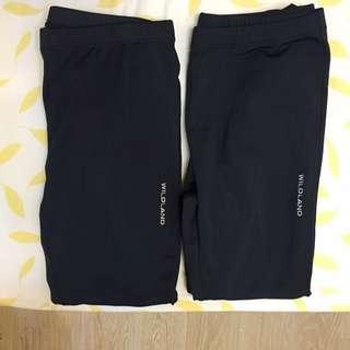(任2件500)wildland 超級保暖的7分內搭褲