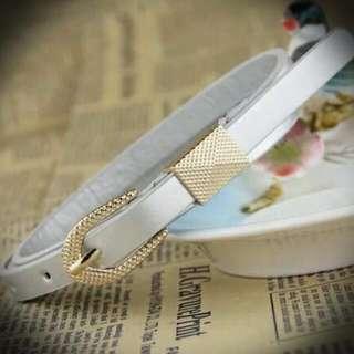 BN Ladies PU Belt (Silver And Dark Blue)