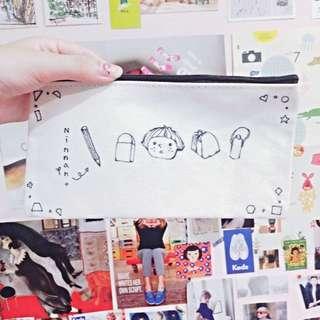 (自製)手繪帆布筆袋