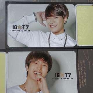 Got7 Igot7 1st Gen. Membership Stickers Jackson / Youngjae