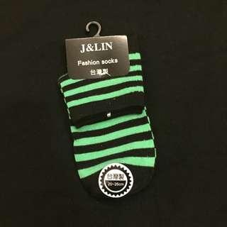 綠色條紋襪